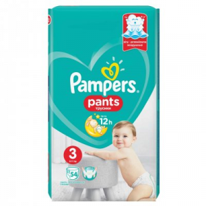 PAMPERS BABY PANTS 3 MAXI 6-11KG X 54BUC