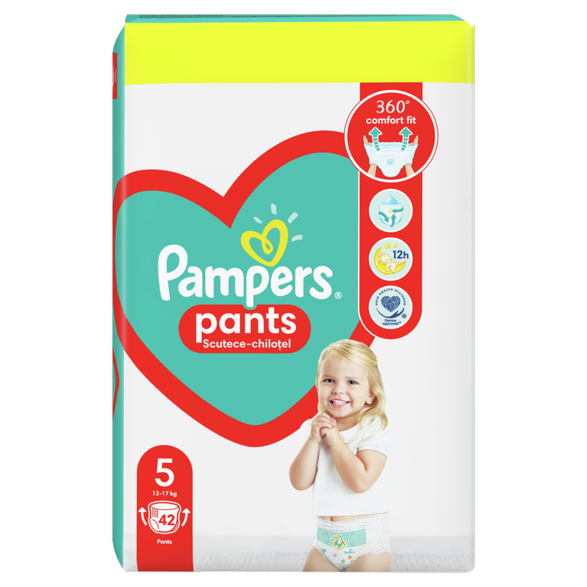 PAMPERS PANTS BABY MAXI PACK 5 JUNIOR 12-17KG X 42BUC