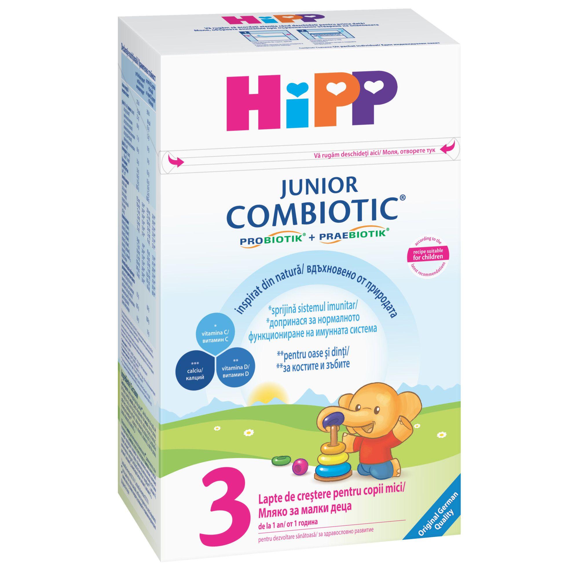 HIPP 3 JR COMBIOTIC LAPTE DE CRESTERE 500G
