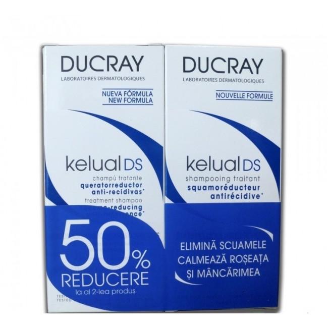 DUCRAY DUO KELUAL DS SAMPON 100ML 1+1 50% REDUCERE LA AL 2 LEA PRODUS